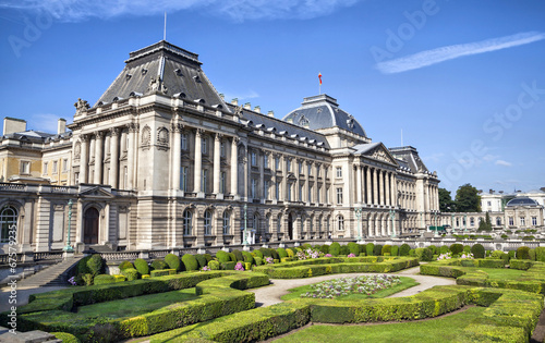 Foto op Canvas Brussel The Royal Palace in center of Brussels
