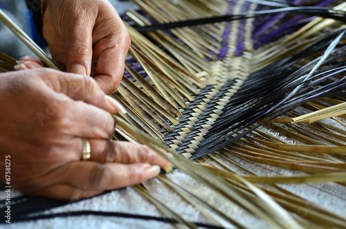 Maori woven artwork Canvas Print