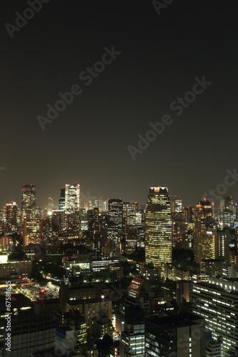Poster Tokyo Tokyo cityscape at night