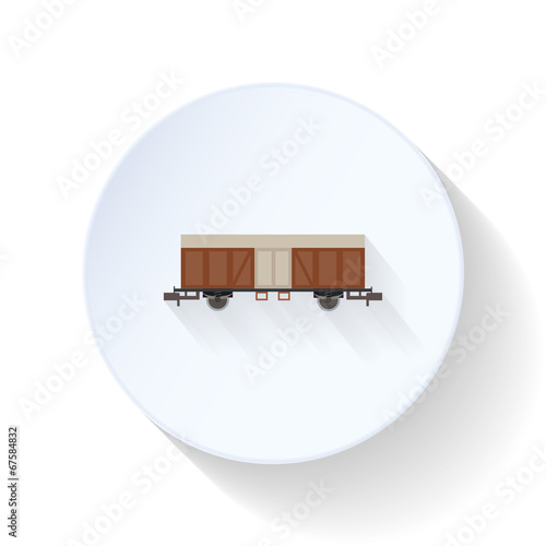 Fotografie, Obraz  Boxcar flat icon