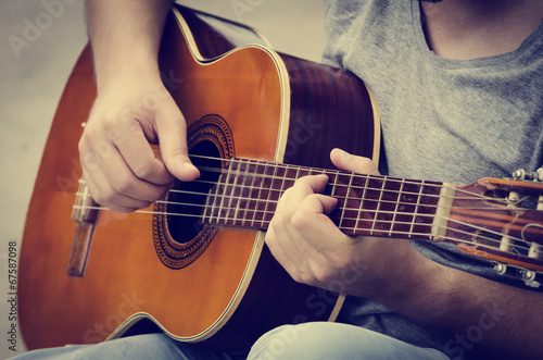 Photo  Man plays the guitar