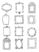Set Of Hand Drawn Picture Frames