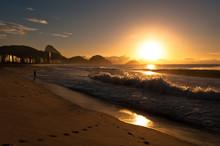 Sunrise In Famous Copacabana B...
