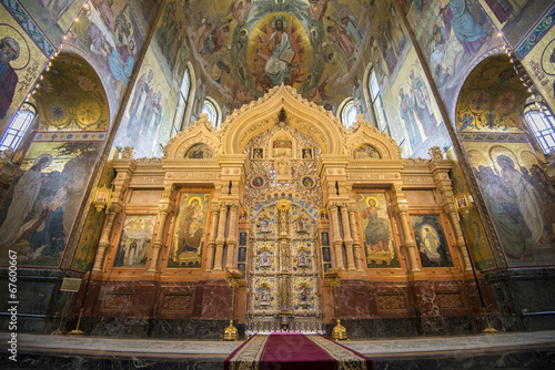 Fotografie, Obraz  Altar of church of the Savior on Spilled Blood, St Petersburg