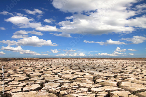 Drought land against