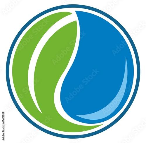 Fotografie, Obraz  water leaf yin yang