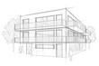 Leinwanddruck Bild - Architektur Entwurf