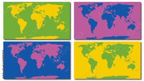 Canvas-taulu Planisphère