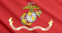 US Marine Corps Flag Waving