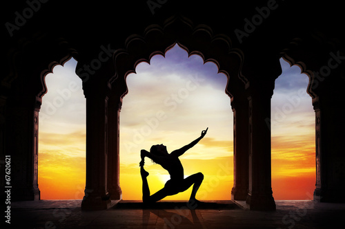 Photo Yoga in the temple