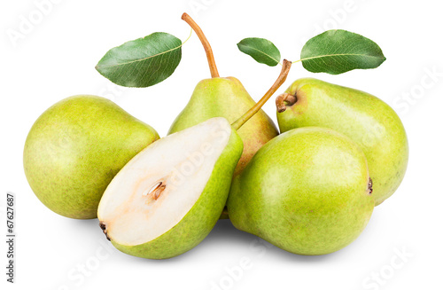 pears isolated Wallpaper Mural