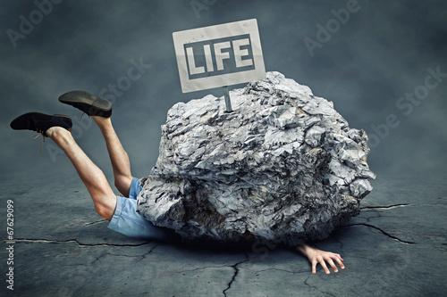Struggles of Life Tablou Canvas