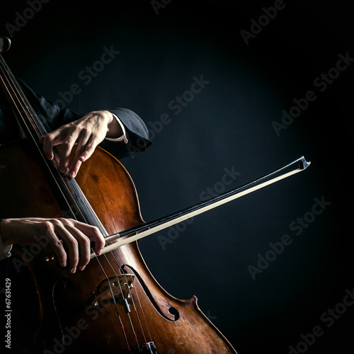 Vintage cello Fototapet