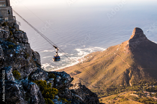 Poster Afrique du Sud Table Mount Cable Car in Cape Town South Africa