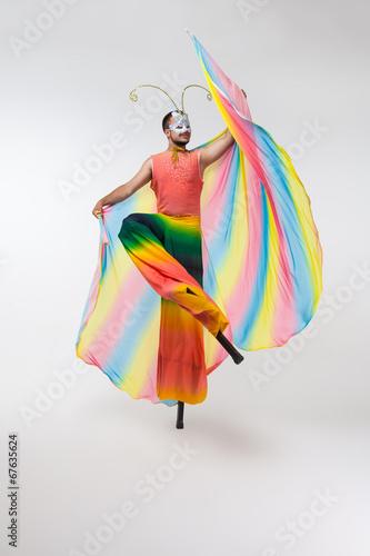 rainbow butterfly Tablou Canvas