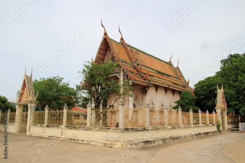 In de dag Bedehuis Old Temple at wat tummai, Bamg pa in, Ayutthaya
