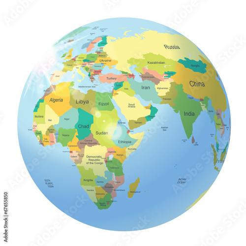 kula-ziemska-mapa-polityczna-euroazji-i-afryki