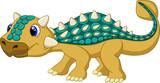 Fototapeta Dinusie - Cute ankylosaurus cartoon