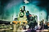 Historical steam engine train