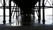 Underneath North Pier At Black...