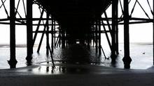 Underneath North Pier At Blackpool