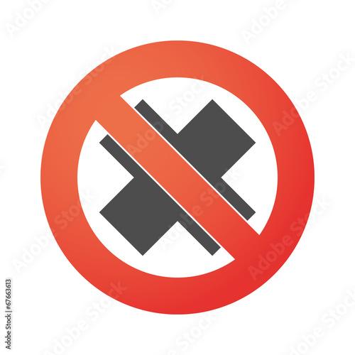 Fotografie, Obraz  Forbidden signal with an irritating substance sign