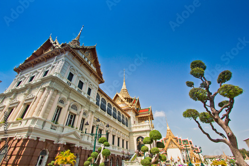 In de dag Bangkok Grand palace or Chakri Maha Prasat Hall in Thailand