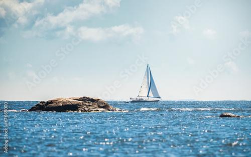 Photo Sailboat in swedish archipelago
