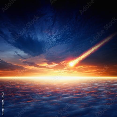 Asteroid impact Fototapet