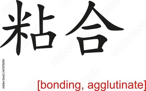 Chinese Sign for bonding, agglutinate Wallpaper Mural