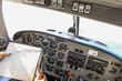 Airplane navigational controls.