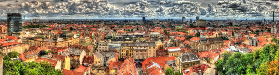 Panorama grada Zagreba u Hrvatskoj