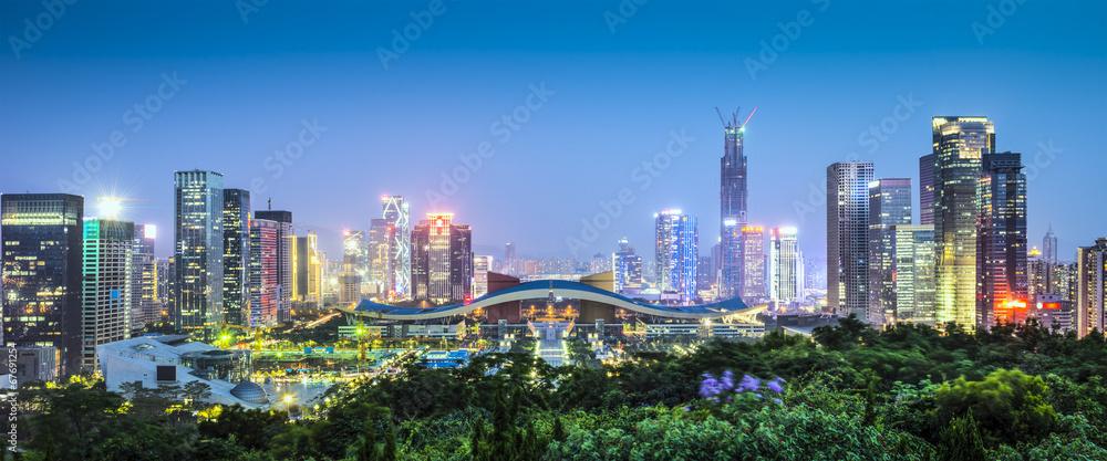 Fototapeta Shenzhen, China Civic Center Panorama
