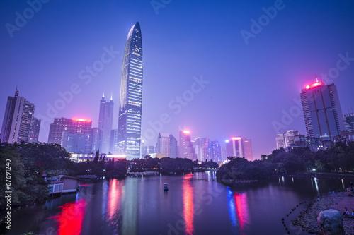 Shenzhen, China at Lizhi Park Canvas Print
