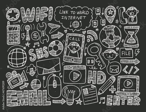 Staande foto Abstractie Art doodle internet web background