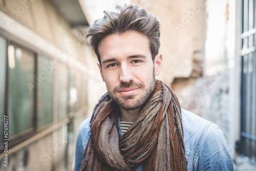 Fotografia  young handsome fashion model man