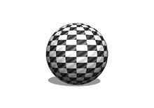 Sphere 3d Checkered Flag Racin...