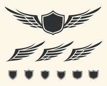Vector Set Of Isolated Winged ...