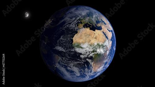 Deurstickers Nasa Moon & Eurafrica
