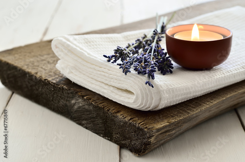 Photo  Lavender aroma theraphy