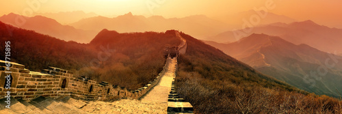 Photo sur Toile Muraille de Chine Great Wall morning
