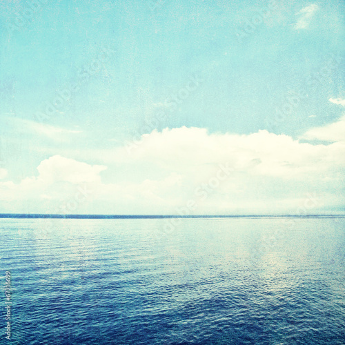 Grunge seascape background Wall mural