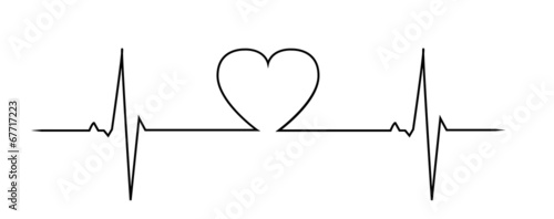 Love heart beat Wallpaper Mural