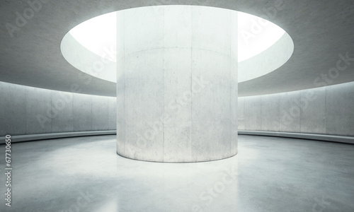 Fototapety, obrazy: empty concrete open space interior with sunlight