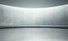 Empty Concrete Open Space Inte...