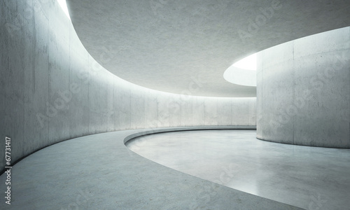 empty concrete open space interior with sunlight #67731417