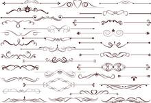 Set Of  Calligraphic Elements ...