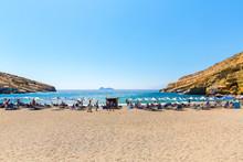 Pebbly Beach Matala, Greece Crete.