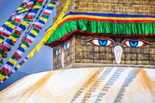 Buddha Eyes At Bodhnath Stupa