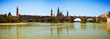 Panoramic view from Ebro river. Zaragoza, Aragon